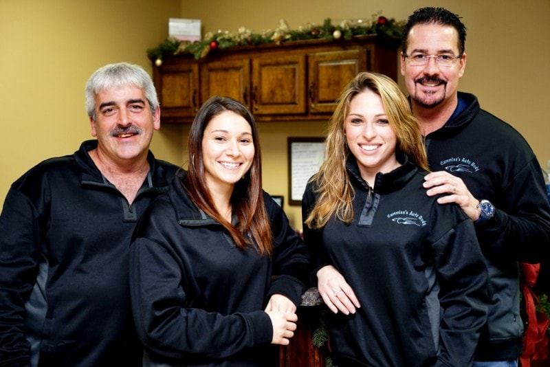 Cammisa's auto body office team
